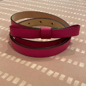 Kate Spade bow belt sz L pink